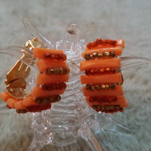 Orange Slice Clip On Earrings