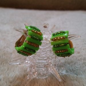 Lime Wedge Clip On Earrings