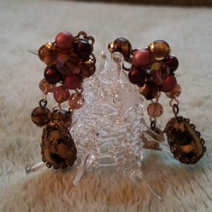 Vintage Harmony Beaded Clip On Earrings