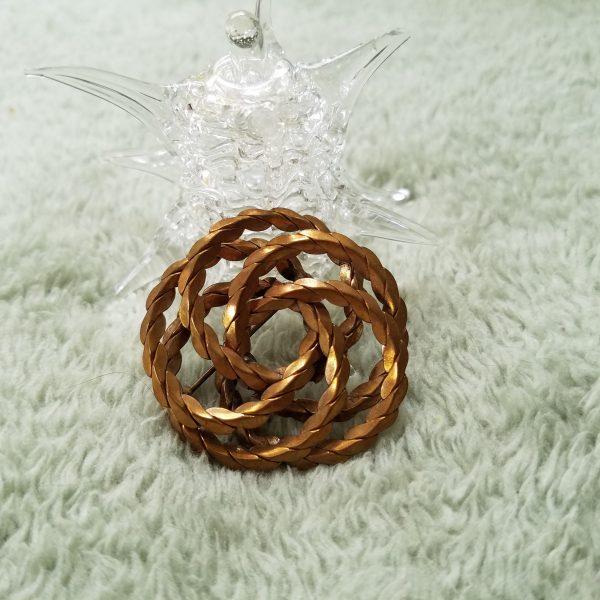 Vintage Infinity Circle Pin