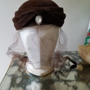 Vintage Brown Jeanie Hat by Lecie