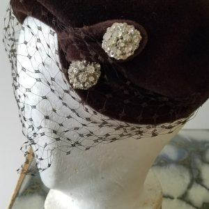 "Vintage ""Chocolate and Diamonds"" Hat"