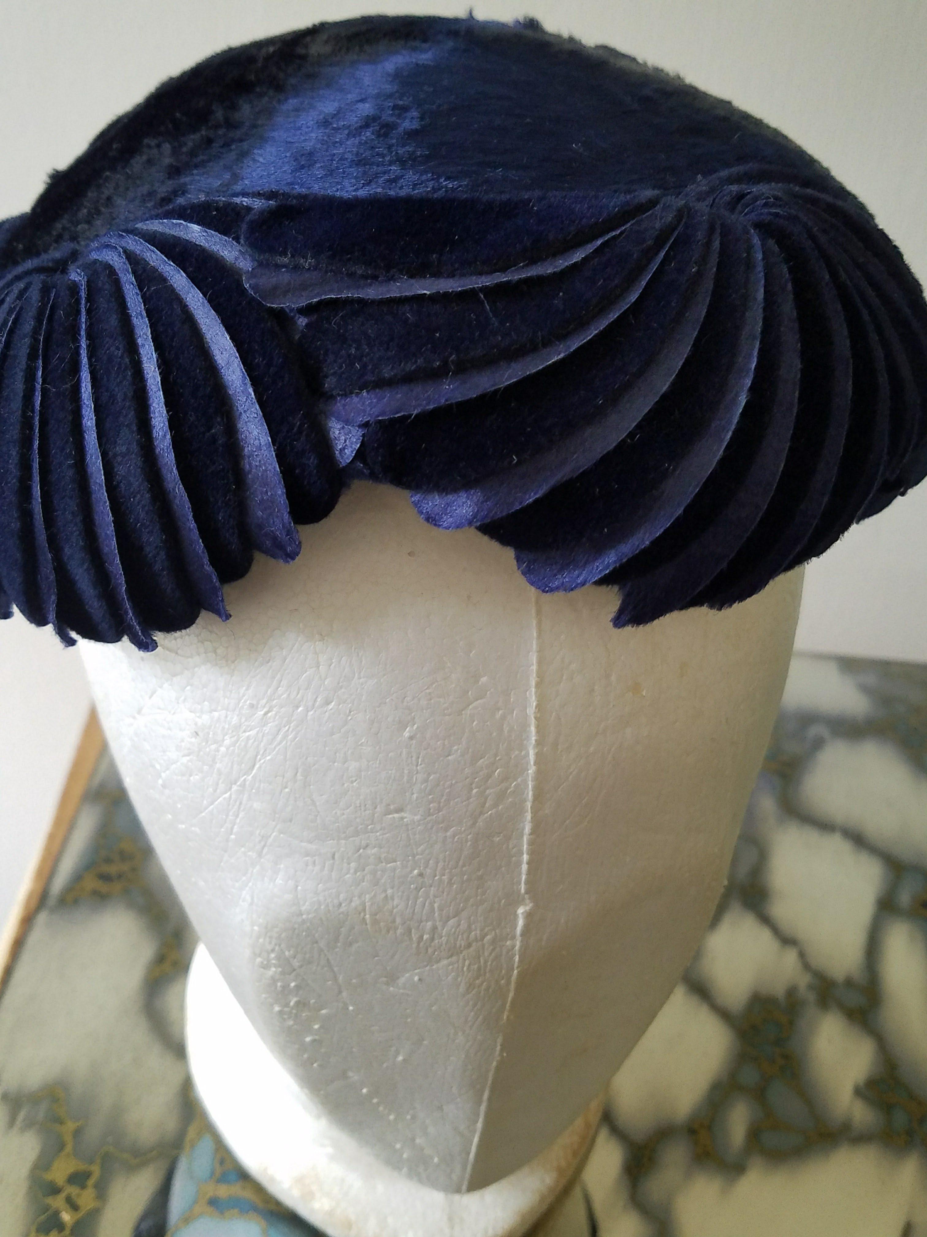 Vintage Navy Sophia Hat