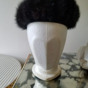 Vintage Midnight Mlle Arlette Fur Hat