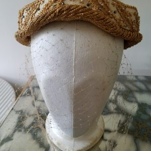 Vintage Frances and Walter Nelkin Straw Inspired Hat
