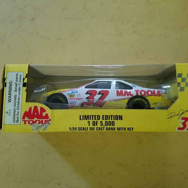 Limited Edition Racing Champions MAC Tools #32 Die Cast Car Bank w/Key