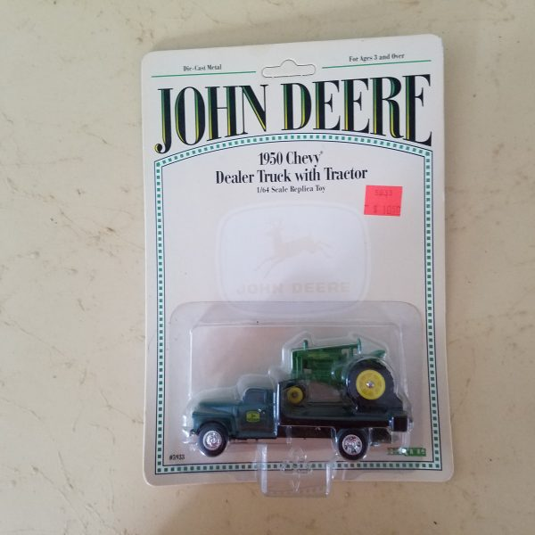 John Deere ERTL 1950 Chevy Dealer Truck with Tractor Die Cast Metal
