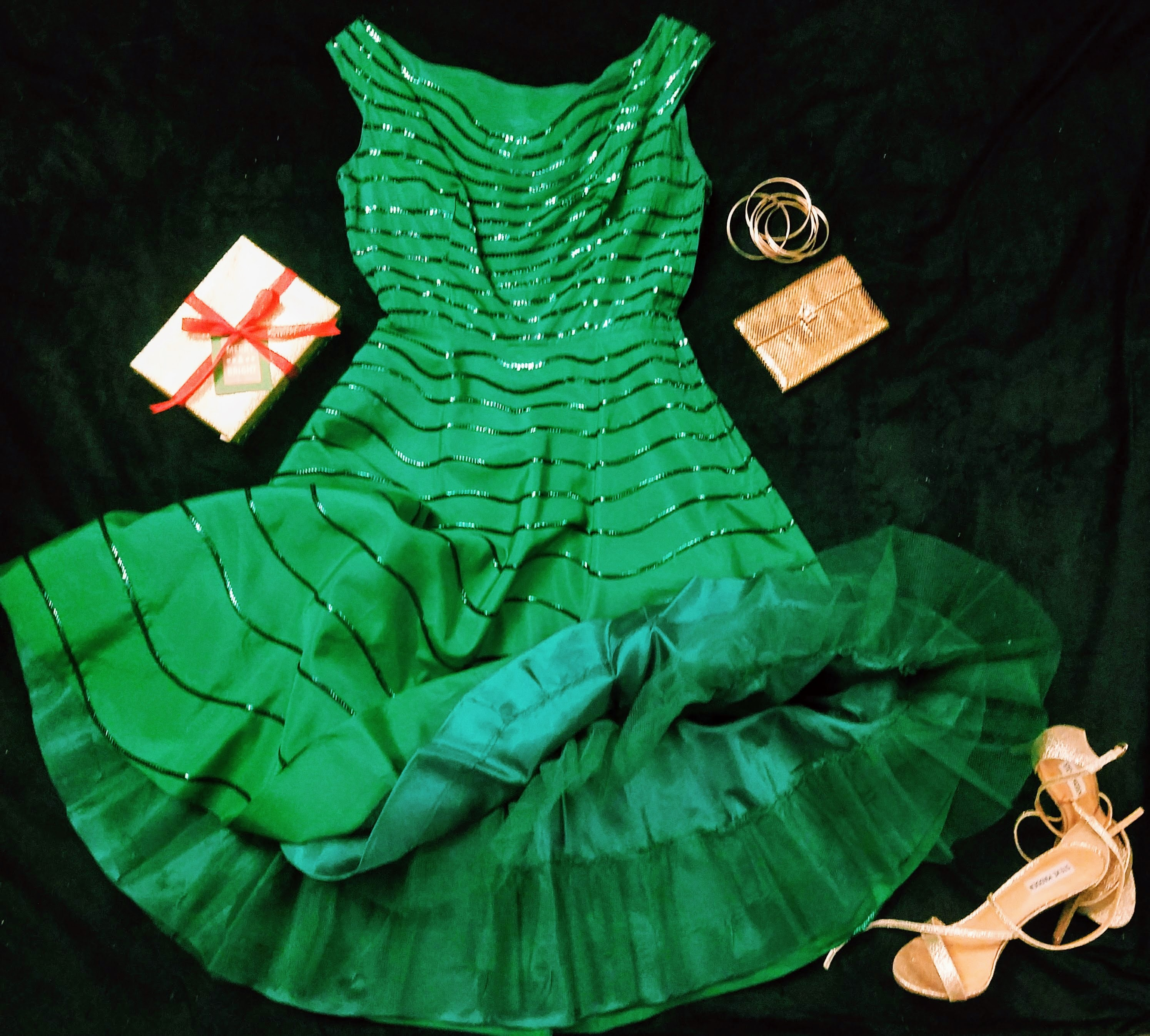 Vintage Green Sequin
