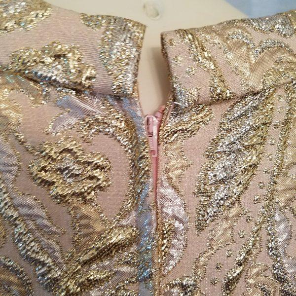 Vintage Brocade Champagne Dress