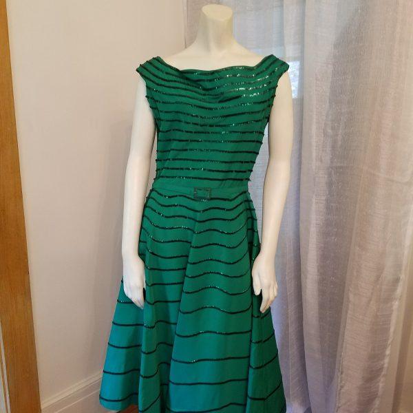 Vintage Green Sequin