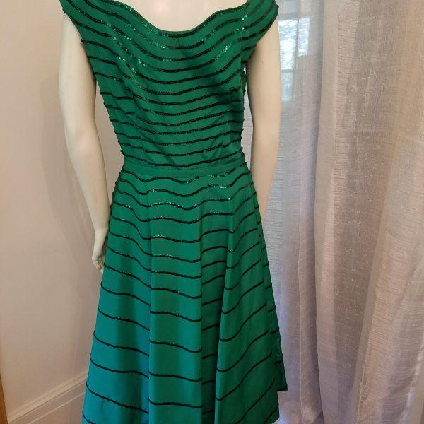 Vintage Green Sparkle Dress