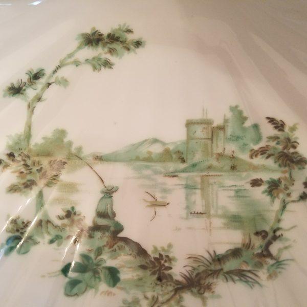 """Vintage Porcelaine Limoges Castel France """"Decor Vieux Marseille"""" Clam Shell"""