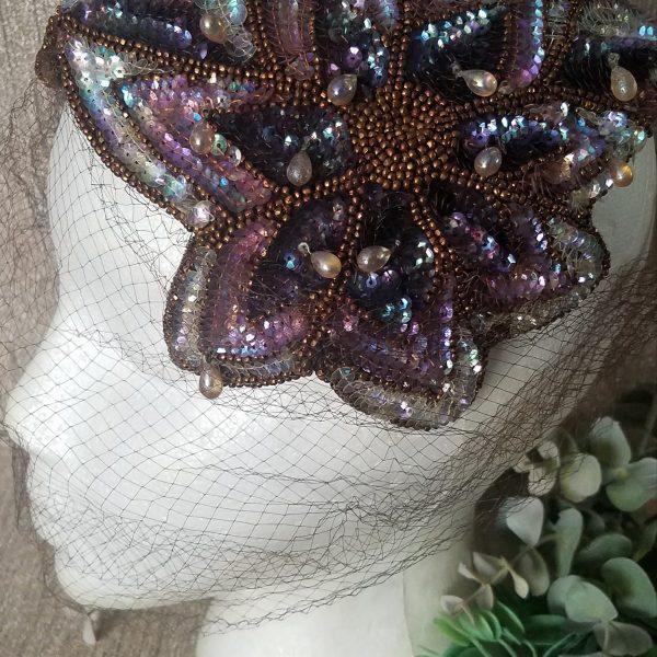 Vintage Sequin Frances and Walter Nelkin Hat