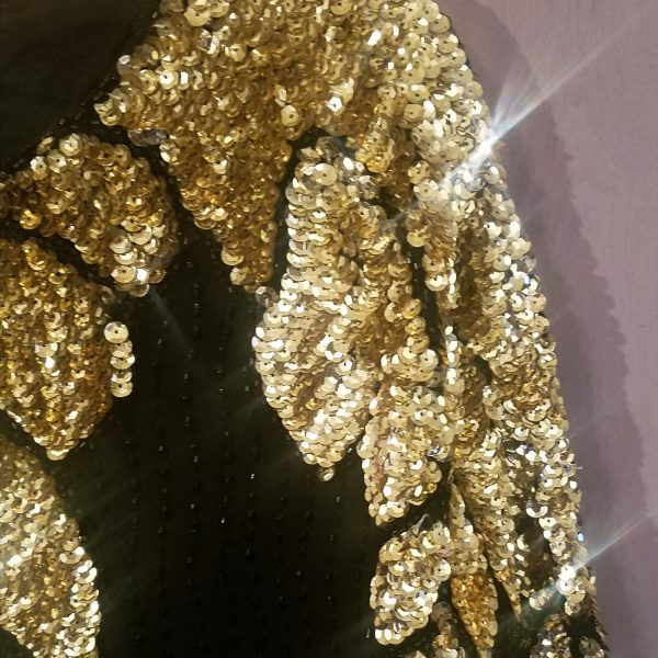 Black and Gold Sequin