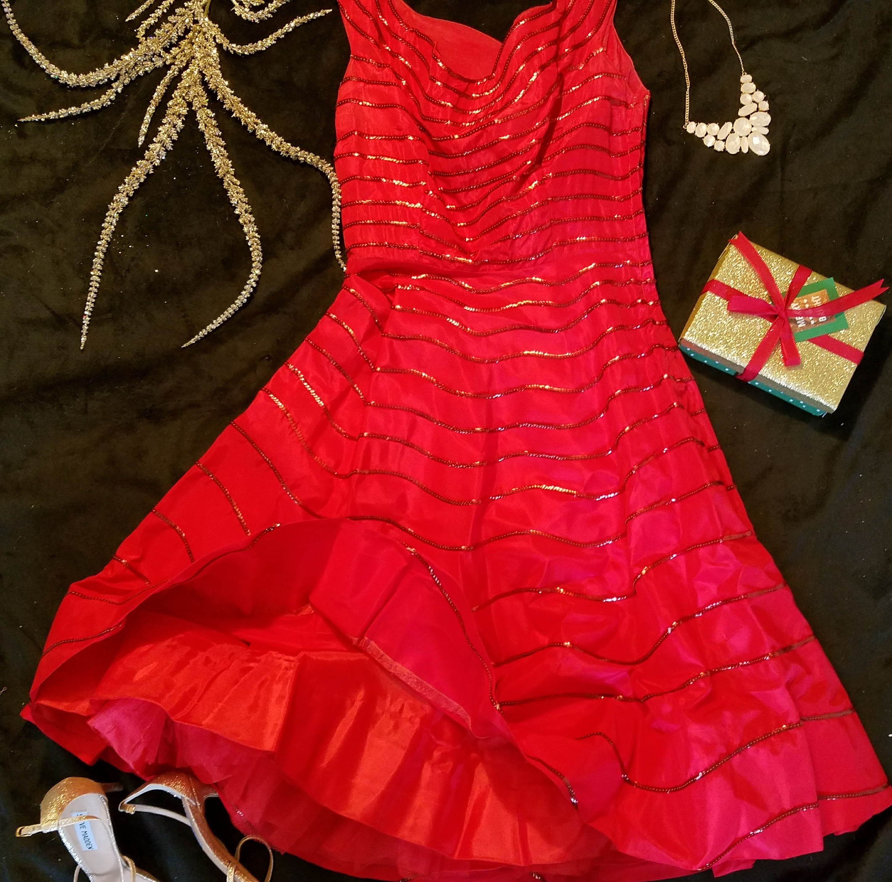 Vintage Red Sequin