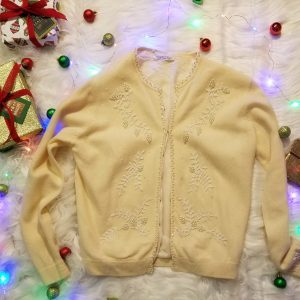 Beaded Cream Cardigan