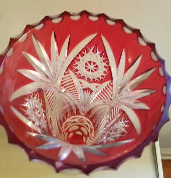 Red Bohemian Czech Glass