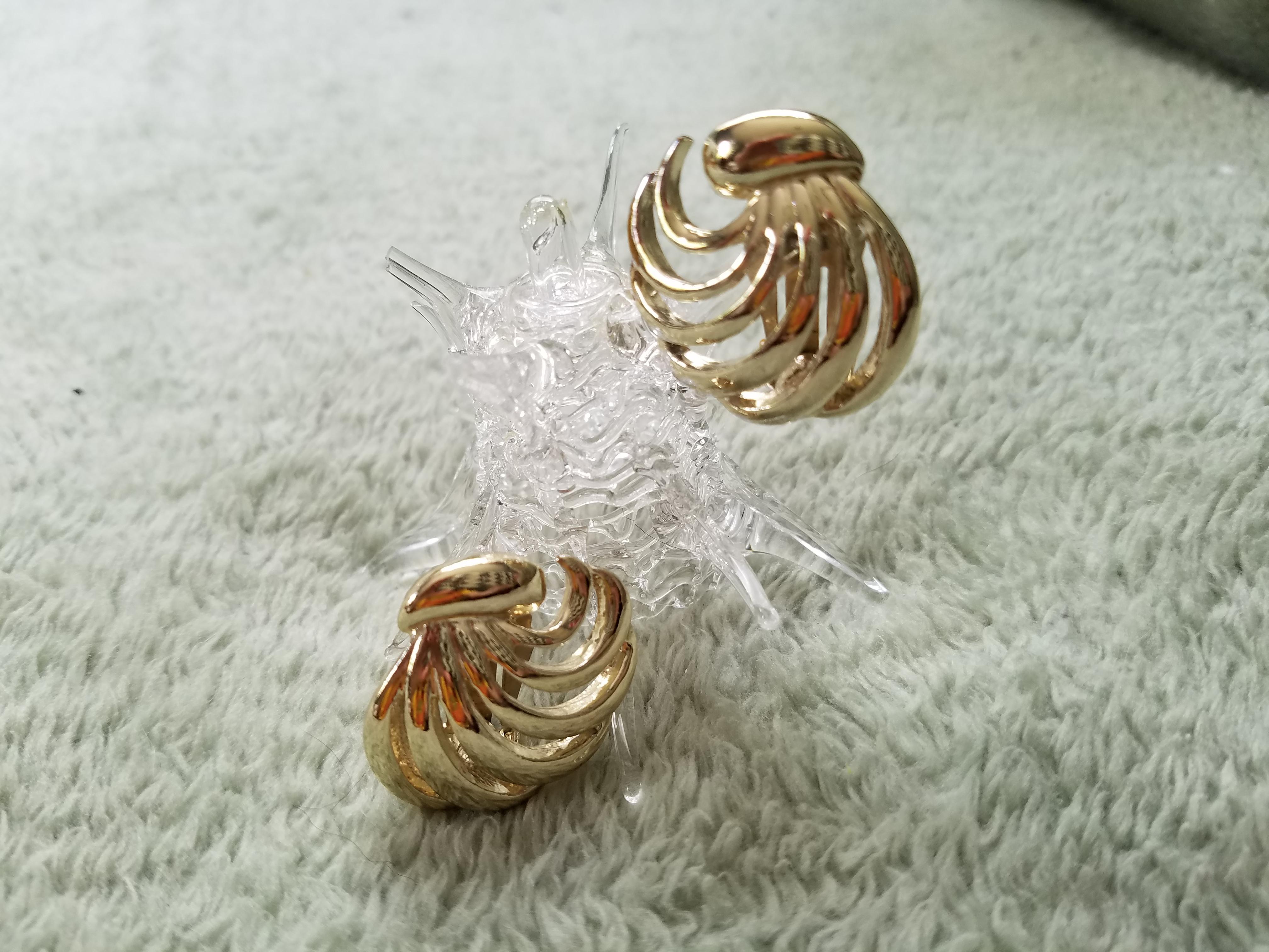 Golden Whisper Vintage Barclay Clip On Earrings