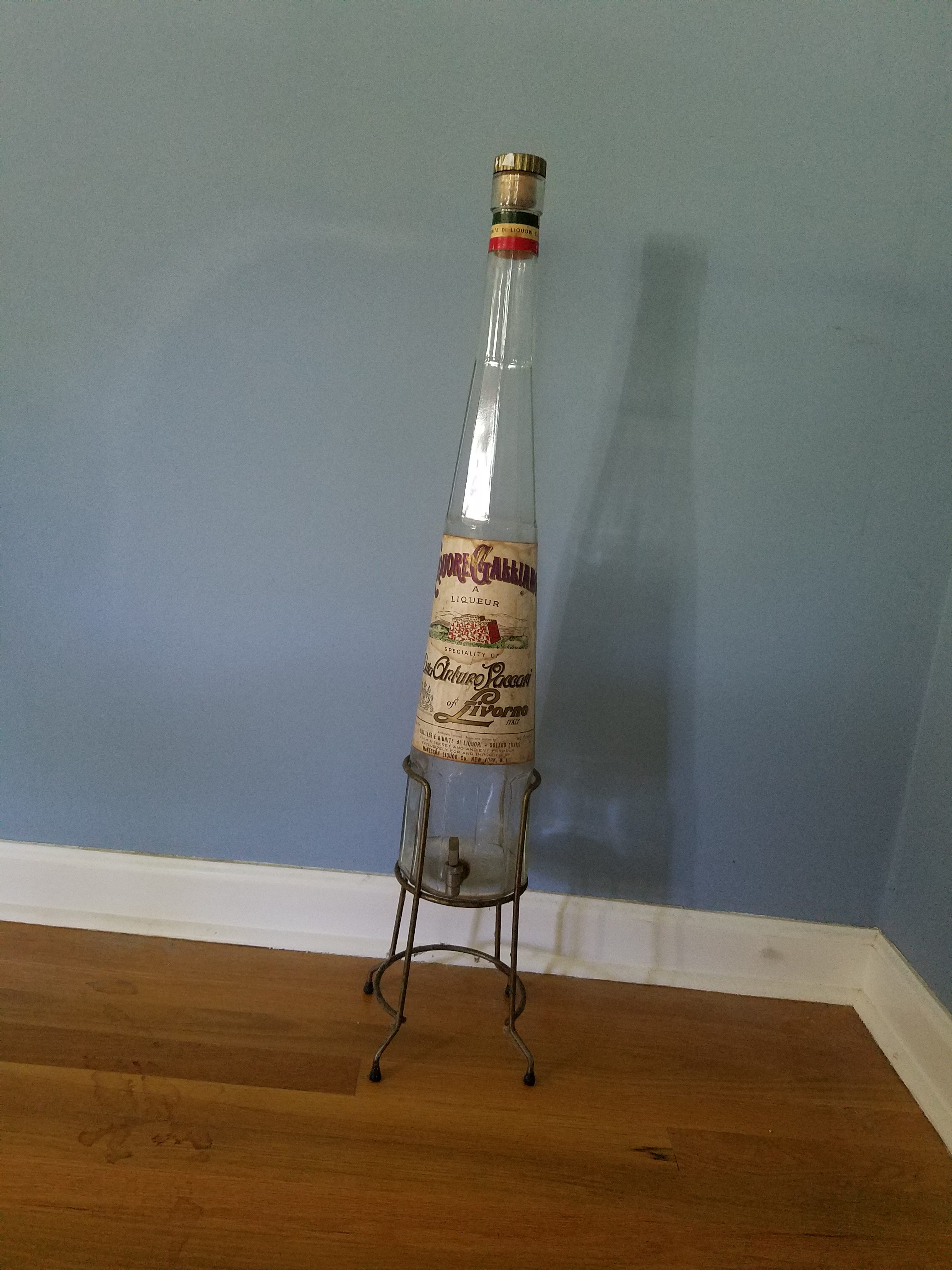 Galliano Bottle With Spigot Amp Stand Aunt Gladys Attic