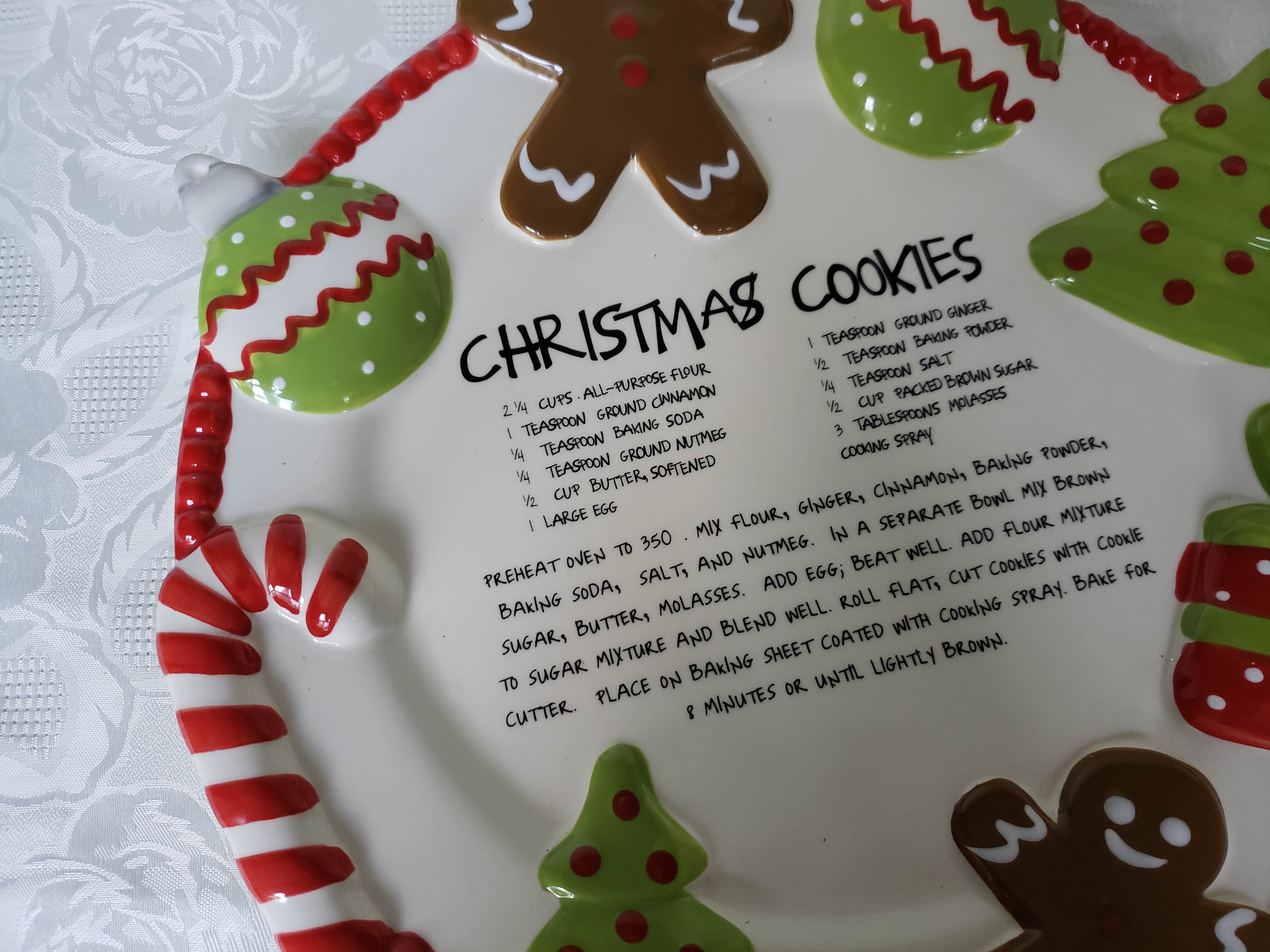 Mud Pie Christmas Cookie Serving Plate